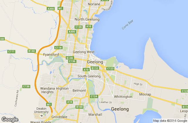map of Geelong