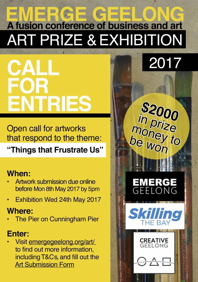 Emerge Geelong call for entries, http://emergegeelong.org/art/